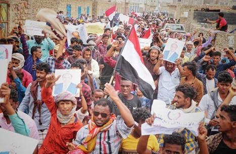 """أول مظاهرة بسقطرى ضد """"الانتقالي"""" منذ سيطرته عليها (شاهد)"""