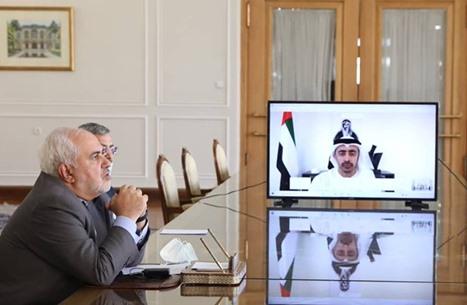 """محادثات """"ودية"""" بين وزيري الخارجية الإيراني والإماراتي"""