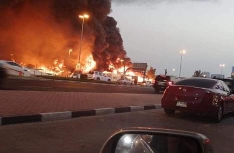 الإمارات.. حريق هائل في سوق بإمارة عجمان (شاهد)
