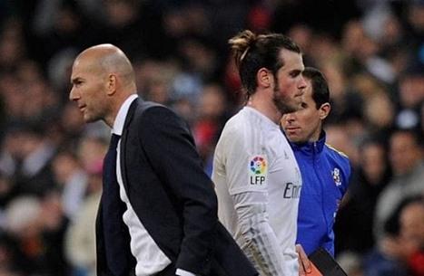 ببل يصدم زيدان قبل مباراة ريال مدريد والسيتي بدوري الأبطال