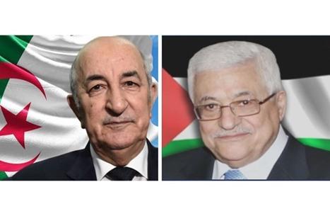 تبون وعباس يبحثان آخر المستجدات على الساحة الفلسطينية