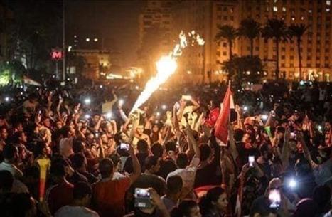 تجدد التظاهرات الليلية ضد السيسي بعدة مناطق بمصر (شاهد)