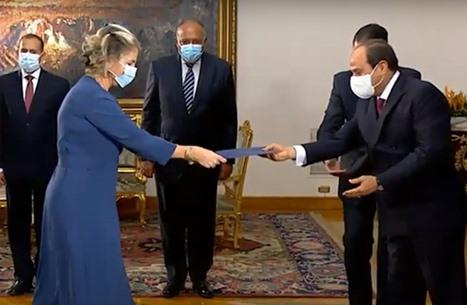 السيسي يعتمد أوراق سفيرة الاحتلال الجديدة في مصر