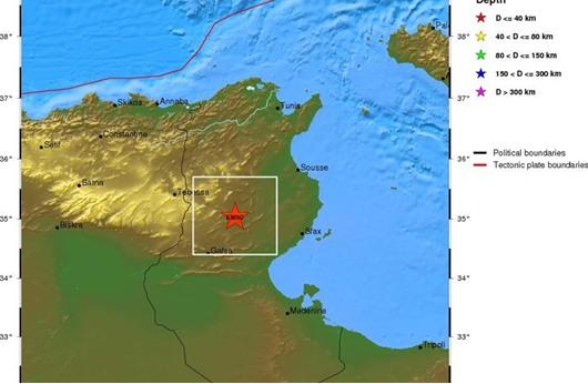 هزة أرضية ثانية تضرب شرقي تونس في أقل من 24 ساعة
