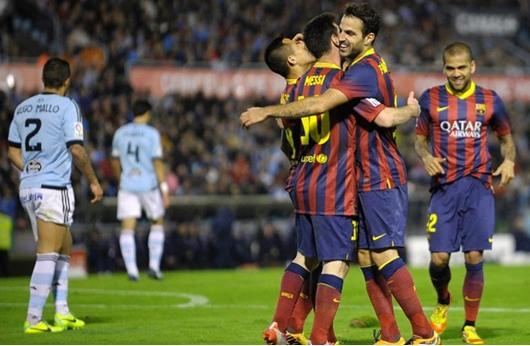 بطولة اسبانيا: برشلونة يهزم سلتا فيغو 3-صفر ويوسع الفارق