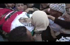 تشييع جثمان الأسير فادي الدربي الذي استشهد في سجون الاحتلال