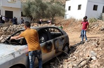 مستوطنون يهود يحرقون مركبة فلسطينية برام الله