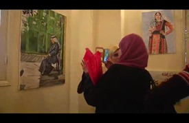 """معرض فني في غزة إحياءً ليوم """"التراث الفلسطيني"""""""
