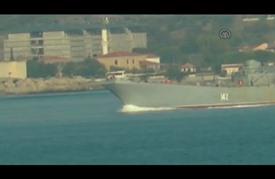 """سفينة حربية روسية تعبر مضيق """"الدرنديل"""" التركي"""