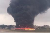 لحظات رعب لمسافرين بعد تحطم طائرة أمامهم (فيديو)