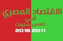 كيف تدهور الاقتصاد المصري في خمس سنوات؟ (إنفوغرافيك)