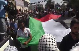 """فلسطينيون في غزة يحيون الذكرى الأولى لاندلاع """"انتفاضة القدس"""""""