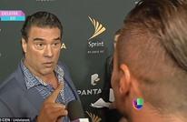 ممثل مكسيكي يفاجئ صحفيا بصفعه على وجهه (شاهد)