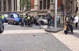 حادث دهس وسط لندن.. والشرطة: لا صلة له بالإرهاب (فيديو)
