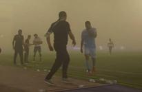 عاصفة رملية توقف مباراة في الدوري السعودي (شاهد)