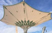 تركيب أول مظلة عملاقة بالمسجد الحرام خلال أيام (صور)