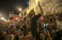 تونسيون يهتفون ضد السيسي خلال احتفال بفوز سعيد (شاهد)