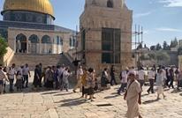 """مستوطنون بالمئات يقتحمون الأقصى بـ""""عيد العرش"""" (صور)"""