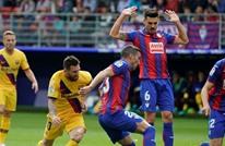 """برشلونة يُطيح بإيبار ويقفز لصدارة """"الليغا (شاهد)"""