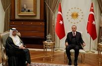 أردوغان يلتقي رئيس مجلس الوزراء القطري بأنقرة
