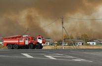 حريق هائل بمستودع أسلحة بروسيا وإخلاء القرى المجاورة له