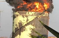 حريق ضخم بمنشأة نفطية بلبنان في ظل أزمة حادة بقطاع الطاقة