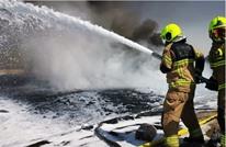 """حريق في """"جبل علي"""" بدبي.. والسلطات تؤكد السيطرة عليه"""
