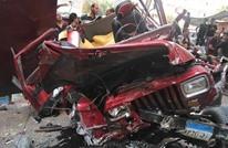 4 إصابات إثر سقوط صادم لسيارة من جسر بمصر (شاهد)