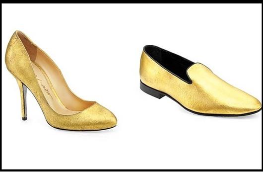 حذاء مطلي بالذهب في أحد أكبر المتاجر بدبي