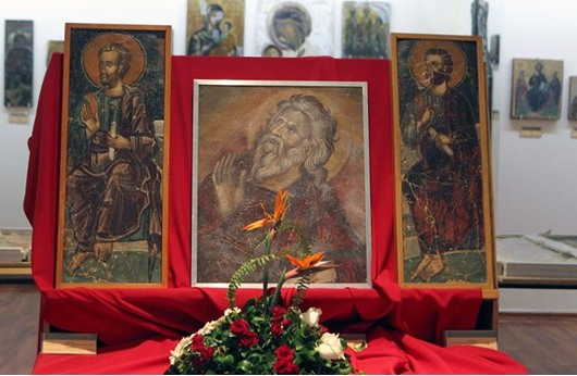 قبرص تستعيد فسيفساء منذ الاجتياح التركي عام 1974