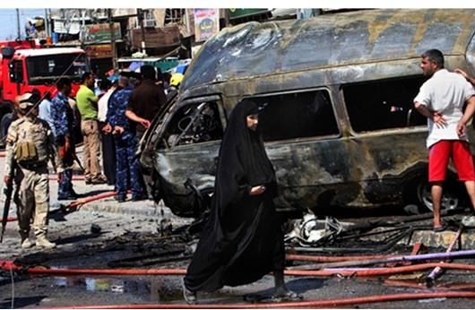 مقتل شرطيين عراقيين وجرح اثنين آخرين في انفجار  ببغداد