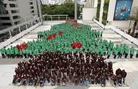 """أكبر شجرة بشرية في تايلاند تدخل """"غينيس"""""""