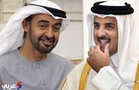 ولي عهد أبو ظبي بالدوحة وأمير قطر على رأس مستقبليه