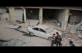 طائرات النظام السوري تدمر مركزا طبيا تابعا للمعارضة في إدلب