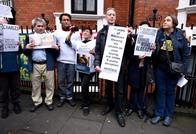 تظاهرة بلندن للتنديد بمحاكمة أسانج