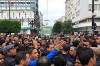 احتجاج حملة شهادات عليا بتونس عاطلين عن العمل