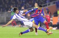 برشلونة يتقهقر بالدوري الإسباني بعد تعادله مع سوسيداد (شاهد)