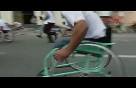 """""""سباق"""" لذوي الاحتياجات الخاصة بغزة"""