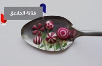 على ملعقة.. فنانة رومانية تبدع لوحات فنية مبتكرة بالطعام