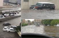 السيول والأمطار تغرق مناطق وشوارع رئيسية بجدة ومكة (شاهد)