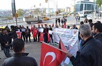 ناشطون يعتصمون بإسطنبول في ذكرى مئوية وعد بلفور