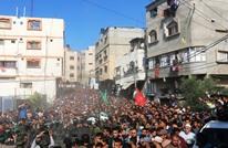 الآلاف في غزة يشيعون جثامين 7 شهداء من القسام (صور)