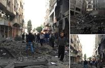 طائرات الاحتلال تدمر بناية سكنية من 7 طوابق غربي غزة