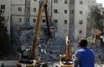 فلسطينيو اللد يتظاهرون رفضا لسياسة هدم البيوت (شاهد)