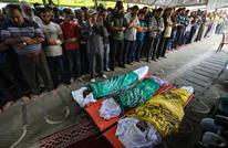 غزة تشيع شهداء العدوان عقب إعلان التهدئة (شاهد)
