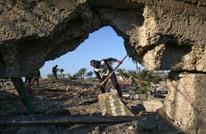 استشهاد فلسطيني بعد سلسلة غارات إسرائيلية على غزة (صور)