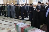 مراسم وداع العالم الإيراني فخري زاده في مدينة مشهد