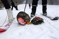 سلحفاة تسبق ارنبا في سباق تزلج في الصين