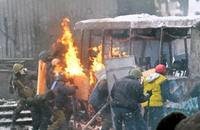 مقتل ثلاثة متظاهرين في اشتباكات في اوكرانيا