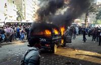 """حرق سيارات الشرطة.. أحدث تكتيكات """"الحراك السلمي"""""""